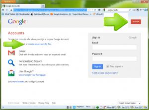 The Google Account Login Screen