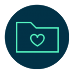 Icon for content that has been favorited by user